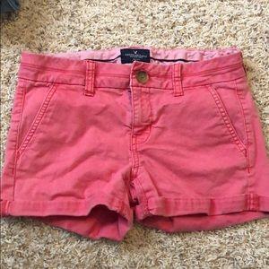 Pink American Eagle Midi Shorts